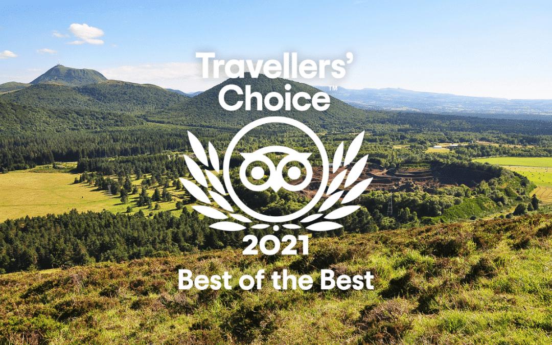 Le volcan obtient le Travellers' Choice 2021 de Tripadvisor